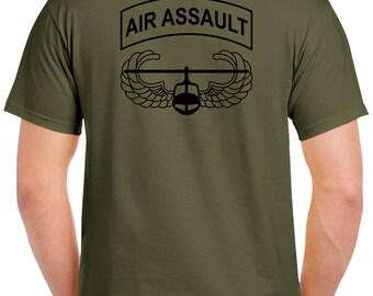 Air Assault T-Shirt - 2 Sided Tee - 101st Airborne 1238-2