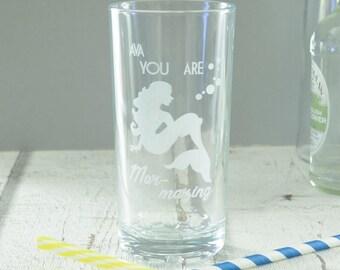 Mermaid Personalised Highball Glass