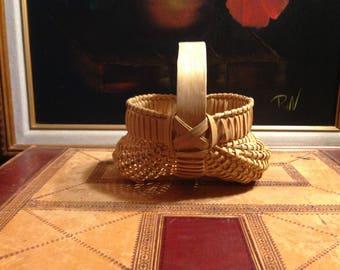 Miniature Vintage Buttocks Basket -  Collector Basket - Home Decor - Gift for Her or Him