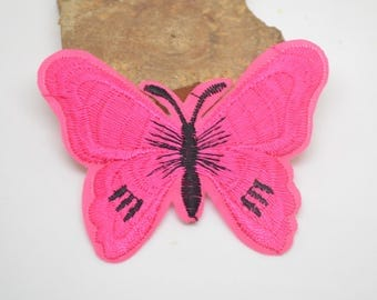 coat 7.5x6 fusible cm or for other pink butterfly