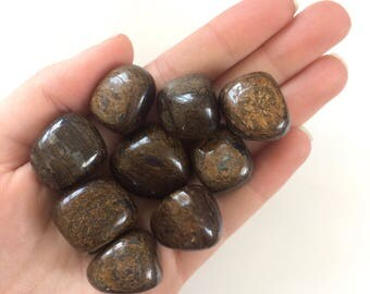Bronzite tumbled stones 20mm
