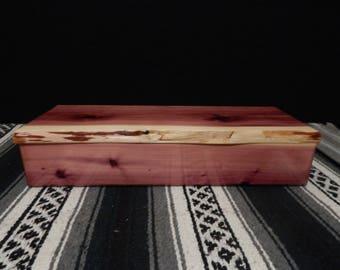 Cedar Feather Box with live edge!