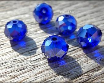 ABACUS 10 Cobalt AB x 5 mm beads