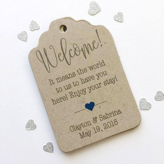 Destination Wedding Gift Tags : Destination Wedding Tags, Hotel Bag Tags, Welcome Wedding Tags, Kraft ...