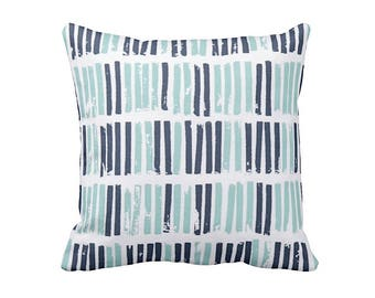 Blue Throw Pillow Cover Navy Blue Pillow Navy Pillow Striped Pillows Decorative Pillows for Couch Cushions Accent Pillows