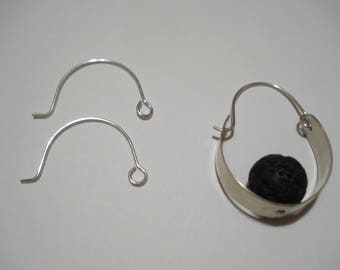RESERVED for Carmen sterling silver hoop ear wires
