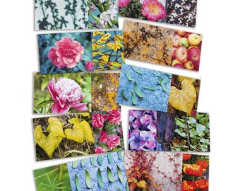 """Set of 10 cards printed on paper """"Still"""" long fine art cotton, size 10 x 21 cm"""