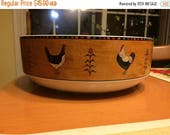 ON SALE Warren Kimble Sakura country quartet stoneware serving bowl