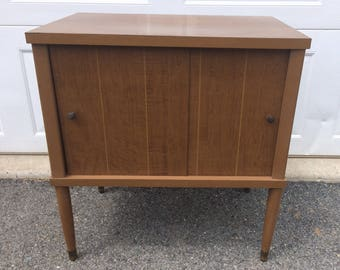 Small mid century record cabinet