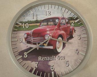 clock wall pattern car 4cv