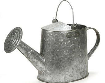 Watering Can - Zinc - 17 x 5.5 x 8 inches-Decorate Or Use As Is