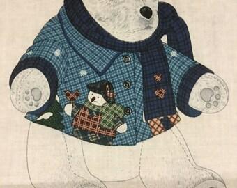 Hug - Me Polar Bear Craft Panel - CUTE