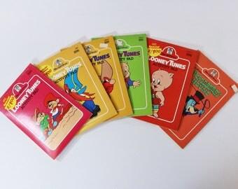 6 Vtg Looney Tunes & Huckleberry Hound Activity Pads Merrigold Press 1980s 1990s