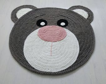 PROMOTION! Soft Bear Rug hand croche tapis enfant teppich rund light grey nursery floor home decoration houseware baby mat alfombra trapillo
