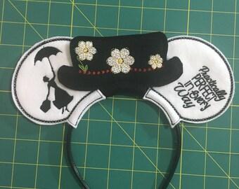 Disney Inspired Mary Poppins Ears Headband