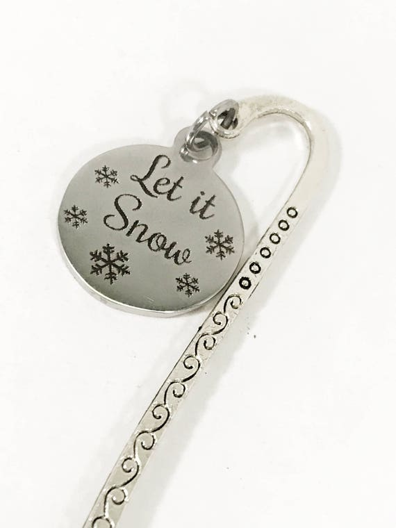 Let It Snow Bookmark, Reader Gifts, Book Gifts, Let It Snow Planner Bookmark, Planner Accessories, Planner Gifts, Metal Bookmark Gift