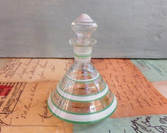 French Vintage glass scent bottle - antique perfume bottle 1920s Perfume bottle