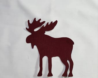 Moose Fabric Appliques - 100% cotton