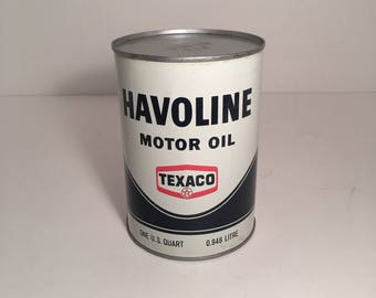 Original Unopened Havoline Motor Oil Can from the 1960's