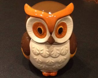 Vintage Owl Cookie Jar <> RARE <> Better Homes & Gardens <> Heritage Collection <> Brown/Orange/White <> 1970's <> EXCELLENT CONDITION