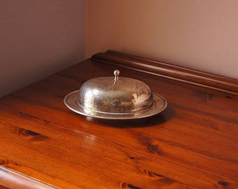 Vintage Silver plated  Butter Dish.