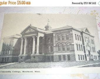 Clearance Sale Concordia College, Moorehead, Minnesota  Antique View Postcard
