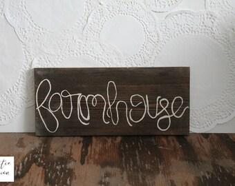 Farmhouse Wood Sign / Farmhouse Wall Decor / Farmhouse Rustic Sign / Country Decor/ Rustic Wood Sign / Farmhouse Home Decor / Rustic Decor
