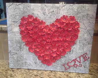 Floral Valentine Heart Wall Decor