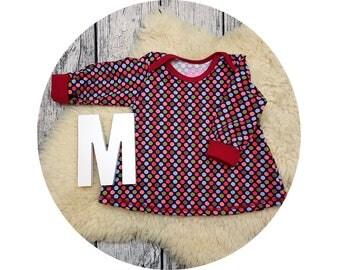 Tunic, baby tunic, American neckline, long sleeve tunic, long sleeve, gift, baby, Mitwachstunkia, points, polka dots, dots, dots