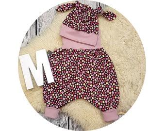 Harem trousers, harem pants, pants, baby pants, baby, Mitwachsen pants, Cap, node cap, baby Kit, newborn gift, fungus, mushrooms