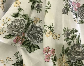 50% OFF Cotton fabric, pure cotton printed dress fabric, Decorative home decor cotton Fabric, floral print,cotton Fabric by yard