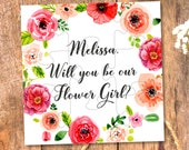 Will You Be my Flower girl, Will You Be our Flower girl, Ask Flower Girl, Flower Girl gift, Flower girl Puzzle, Flower girl jigsaw, proposal