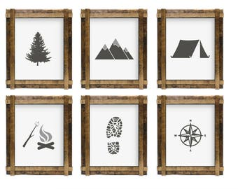Adventure 6 pack // Hiking // Camping // Fishing // Room Decor