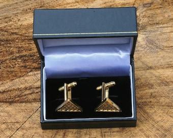 Snooker Design Gold Plated Cufflinks UK Handmade Gift Boxed