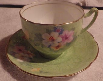 Collingwoods Tea Cup Saucer Made in England Bone China