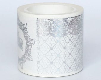 Silver laces washi tape