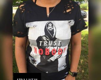 Tupac Trust Nobody Distressed Tee