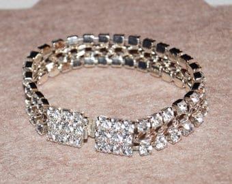 Sparkling 50's 60's Rhinestones Bracelet Vintage