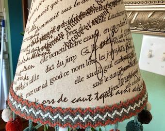 Classic Lampshade with pom pom fringe