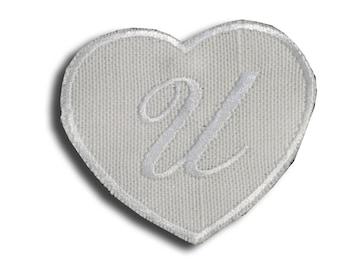 "Thermo Monogram ""Letter U"" in white linen"