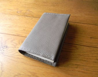 Coffee cream color leather book cover