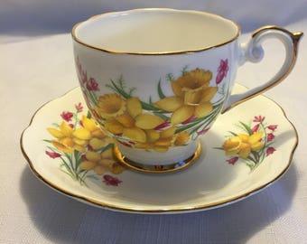 Daffodil Teacup and Saucer