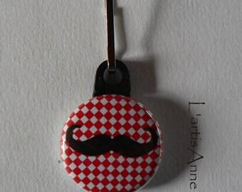 Zipper Zip zipper mustache Badge Strap.
