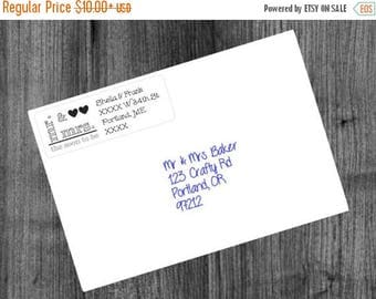 ON SALE 5 SHEETS (150 labels) mr & mrs (or soon to be) wedding return address mailing label stationary sticker Clear Kraft White