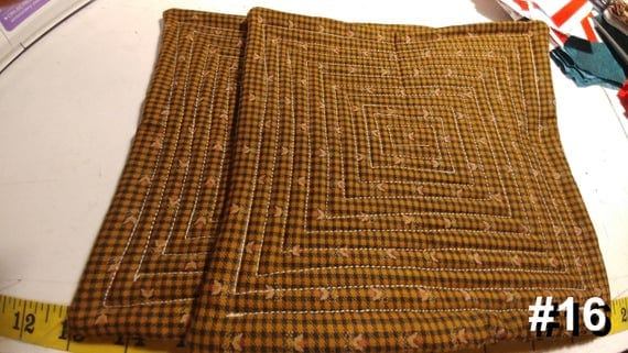 CHARITY (Brown navy checked with tan design HOT PAD set of 2 #16)
