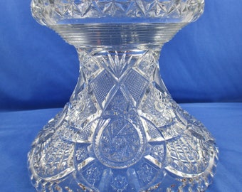 EAPG Pressed Glass Crystal Punch Bowl stand