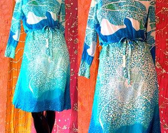 Pauline Trigere Dress Psychedelic Mod Dress  Vintage 70s Saks Fifth Avenue 1973 Dress