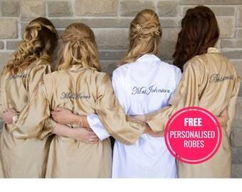 SATIN Silk Flower Girl Robe, Satin Kids Robe, Satin Robe, Junior Bridesmaid Robe