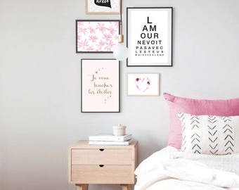 Poster love looks not with the eyes - A4 size