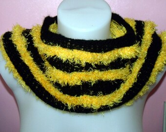 Cowl, snood, scarf - Black/Yellow